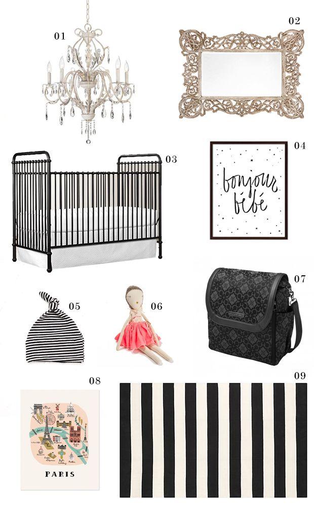 Parisian Nursery - French Nursery - Paris Inspired Nursery Theme - www.petunia.com/blog