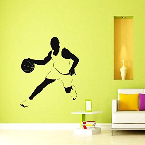 Basketball Player Wall Decal Vinyl Sticker Game Sport Wall Decor Home  Interior Design Art Mural Boy Part 83