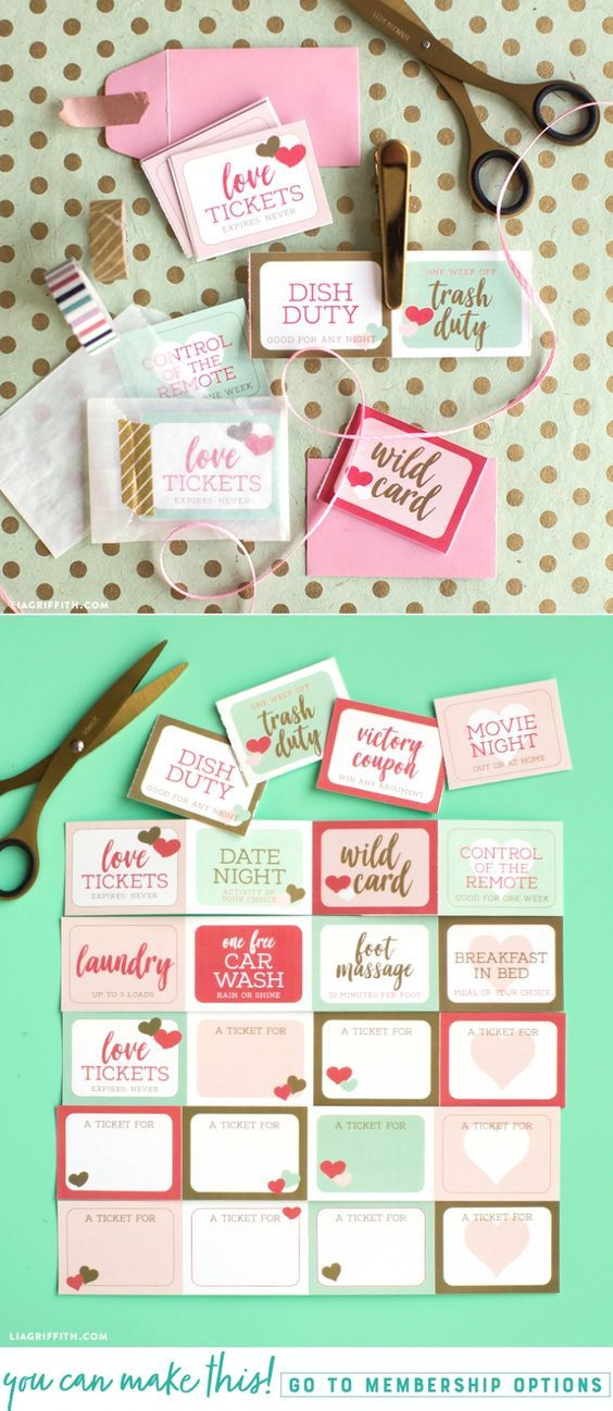 Download a set of cute printable love coupons for Valentine's Day - Lia Griffith - www.liagriffith.com #paper #paperart #paperlove #diyvalentines #diyvalentinesday #valentinesday #valentines #valentine #printables #printable #madewithlia