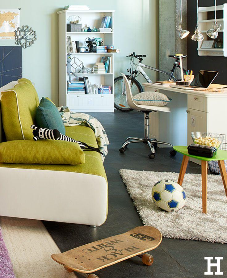 Spectacular Ein cooles Jugendzimmer in gr n und blau jugendzimmer kinderzimmer ideen einrichtung