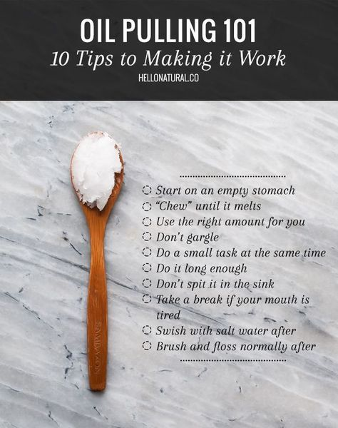 OIL PULLING 101: 10 Tips for Making It Work | Benefits of Oil Pulling with Coconut Oil | HelloNatural.co