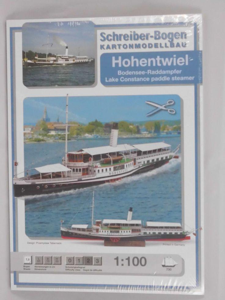 Hohentwiel Raddampfer Bodensee 1:100 von Schreiber Karton Papier Modllbau