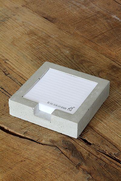 Het Noteboompje Cementen notitieblaadjeshouder