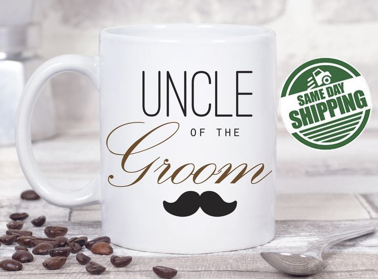 uncle of the groom uncle mug gift for uncle uncle gift uncle of the bride mug for uncle wedding party mug new uncle mug wedding mugs uncle of groom mug mug present mug for aunt aunt and uncle mug  This cute design will be printed on best quality Grade A fully white Mugs or Mugs with black handle. If you prefer, we can print design on one side and special message on the other side. Kindly specify in order notes. We use dye sublimation and heat transfer technique to print the design on the…