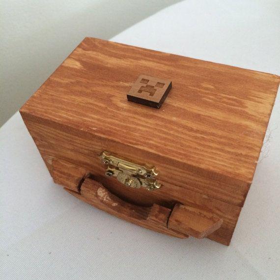 Minecraft Ring Box Nerd Geek Wedding