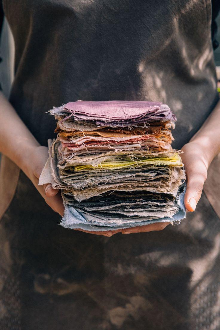 beautifully and naturally dyed fabrics...
