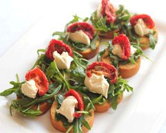 This goats cheese toasts recipe are bite soze canapes. Tangy and Italian flavoured, you can.prepare ingredients ahead and assemble when your guests arrive. Find more on Kidspot New Zealand's recipe finder.