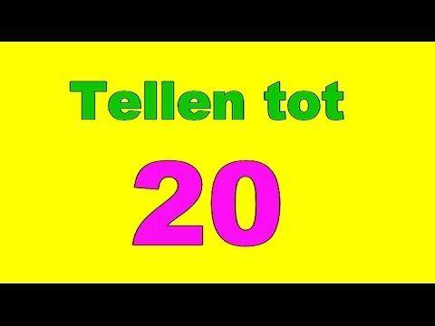 Tellen tot 20 twintig peuters kleuters cijfers leren