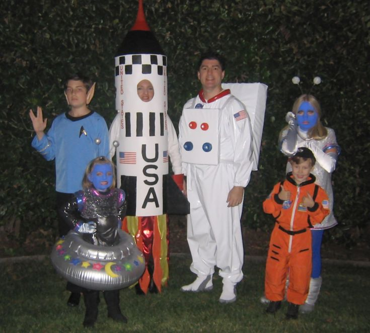 Family Halloween Costumes - Outer Space Theme