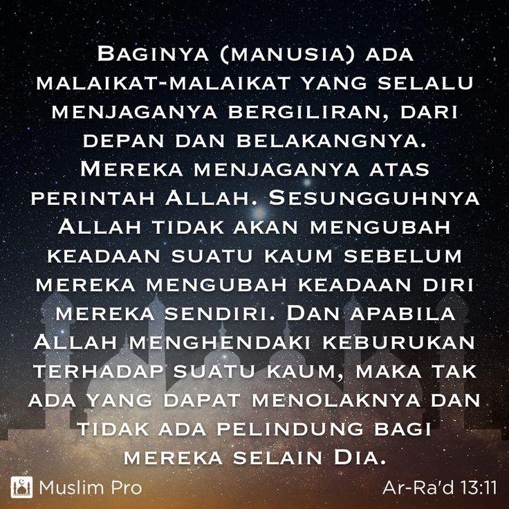 Kutipan dari Al-Quran, Ar-Ra'd (13:11) #muslimpro http://get.muslimpro.com
