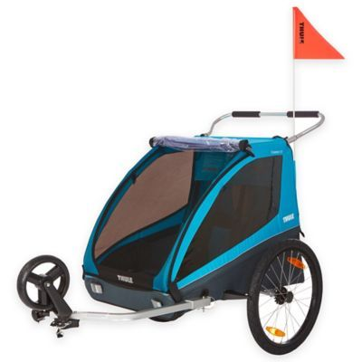 Thule Kids Coaster Xt Bike Trailer In Blue In 2020 Bike Trailer Bicycle Trailer Thule Chariot