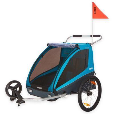 Thule Kids Coaster Xt Bike Trailer In Blue In 2020 Bike Bicycle