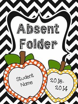 FREE - Student Absent Folder