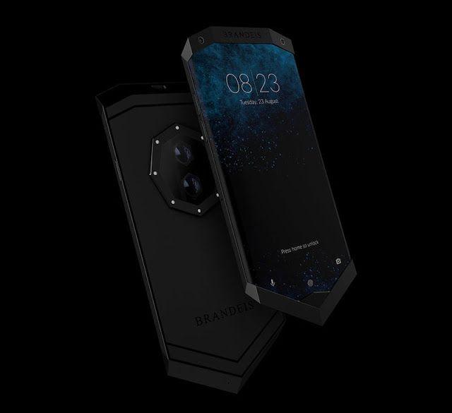 El diseño del smartphone  Brandeis 'Prometheus' tiene  una peculiar  estética y características excepcionales