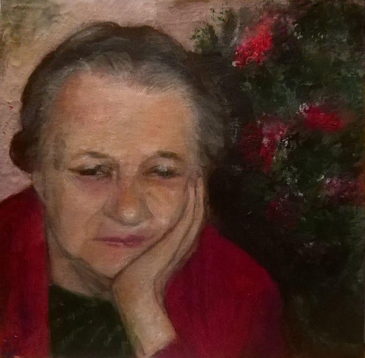 Art Journal 2 - Acryl - Portrait - v. skonea