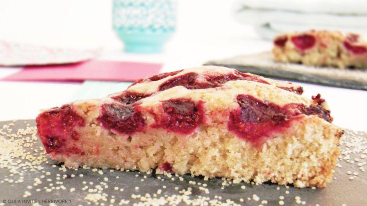 Gâteau amandes / framboises