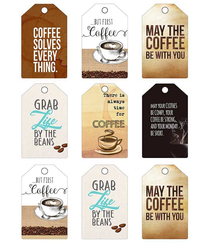 6 Free Coffee Greeting Cards And Printable Tags Coffee Gifts Card Coffee Gifts Coffee Printables