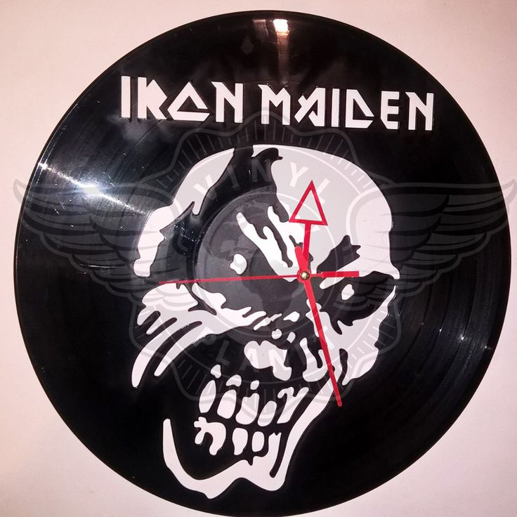 Horloge Vinyle décoration IRON MAIDEN 3