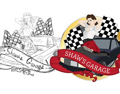 "Check out new work on my @Behance portfolio: ""Illustration - Shaw's Garage"" http://on.be.net/1LFtgDO"