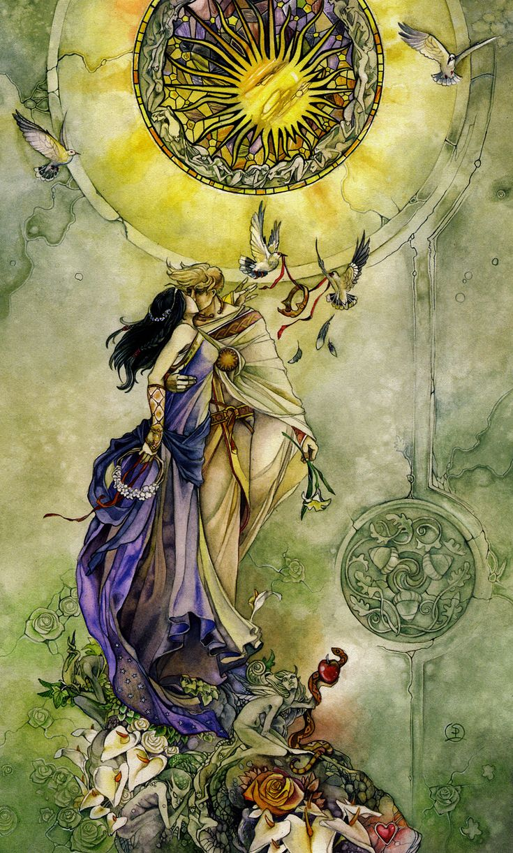 stephanie_law_tarot_major arcana_07_lovers.jpg (963×1600)