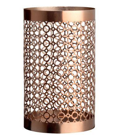 H&M Tea Light Holder: Another option for outdoor solar light holders.   $6.95 Diameter 3 1/2 in., height 6 in.