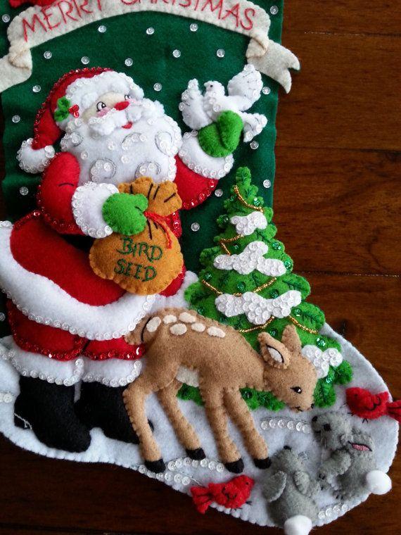 Fiesta de Navidad Bucilla terminado por MissingSockStitchery