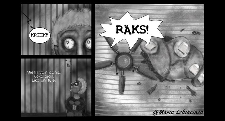 """Life is like a box of"" - comic #mariadrawsdaily #sarjakuva #grayscale #art"