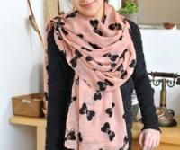 Pale pink bow chiffon scarf scarf only £6.99