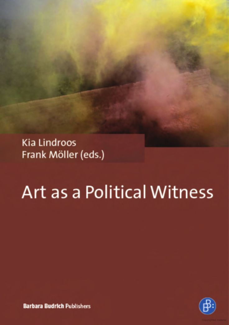 The book explores the concept of artistic witnessing as political activity. In what ways may art and artists bear witness to political events? The contributors engage with dance, film, photography, performance, poetry, and theatre and explore artistic witnessing as political activity in a wide variety of case studies.