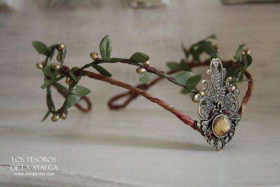 Woodland Elf Tiara - Elfen-Kopfband - Fee Krone
