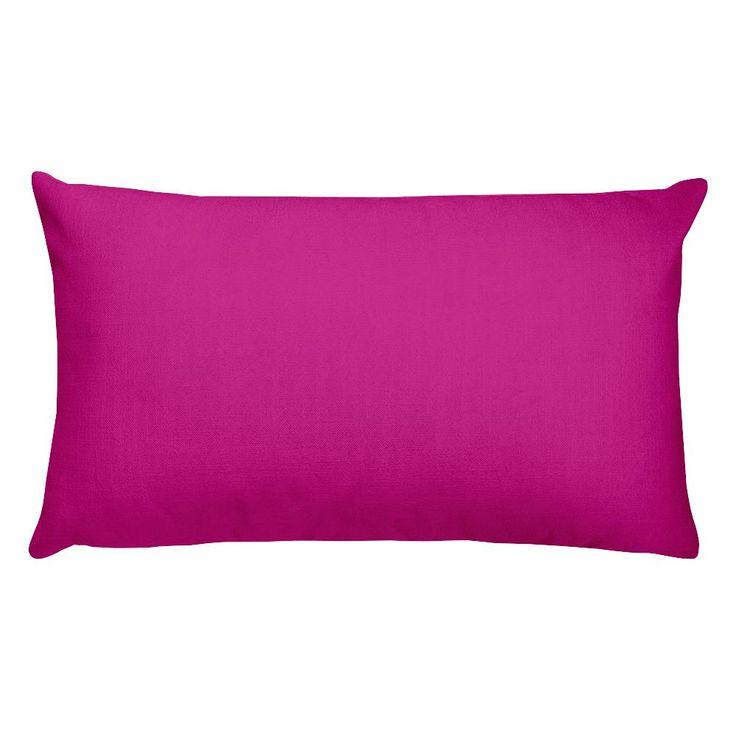 Medium Violet Red Rectangular Pillow