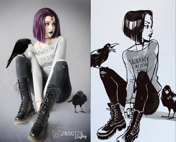 Casual Raven 'Teen Titans' Cosplay