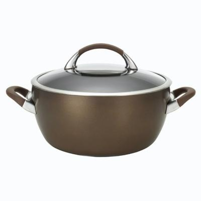 Circulon Symmetry Chocolate 5.5 Qt. Covered Casserole - $69.99    This wonderful pan is useful in so many ways. Cook up a pot of chili or spaghetti sauce, or cook the pasta itself at dinnertime. Use it to cook several artichokes, a head of cauliflower, or boil new potatoes. It can also go into the oven to finish off a homemade stew.