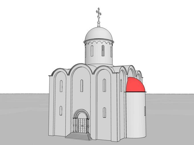 Конха – полукупол, обычно в форме четверти сферы, которым перекрывались апсиды храма.