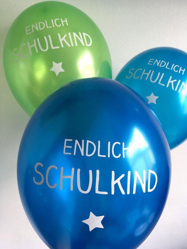 Luftballons für das Schulkind zum Schulanfang / enrollment party balloons made by Ooh-Happy-Day via DaWanda.com