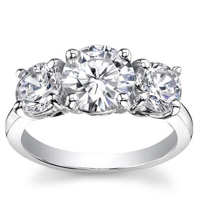 150 Ct Three Stone Diamond Engagement Ring