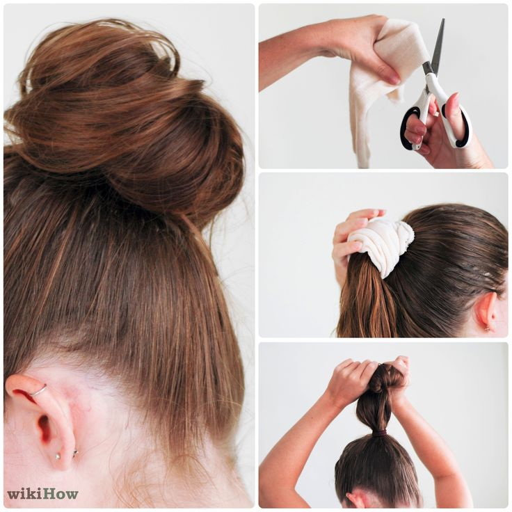 DIY Bun, using a sock! This one shows how to do it a lot better! So cute!