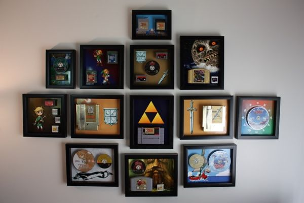 'Legend Of Zelda' Game Collection Transformed Into Fancy Wall Decor