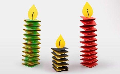 Gefaltete Kerze (Hexentreppe)