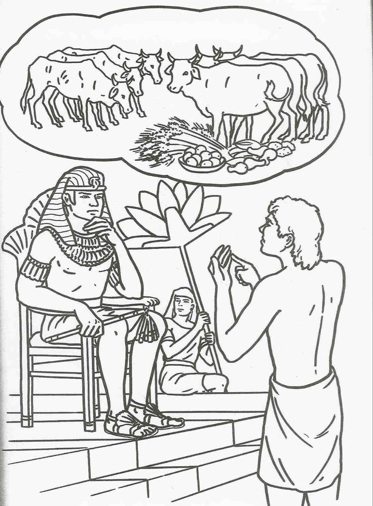 Download or print this amazing coloring page: Joseph And