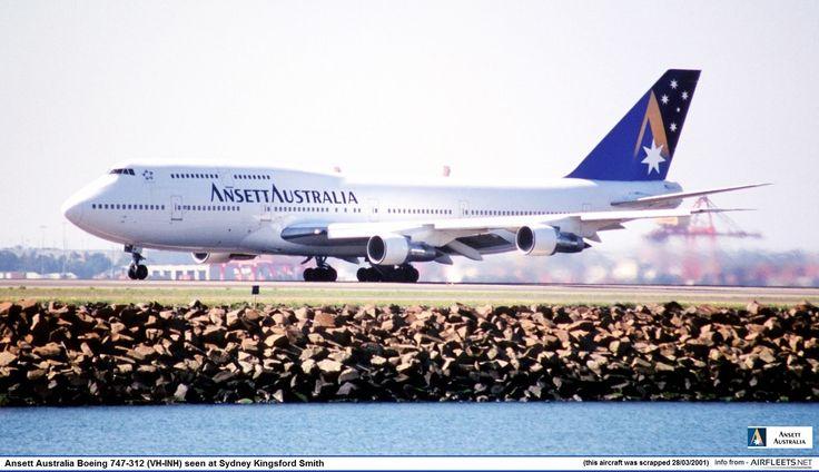 Ansett Australia Boeing 747-312 (VH-INH) seen at Sydney Kingsford Smith