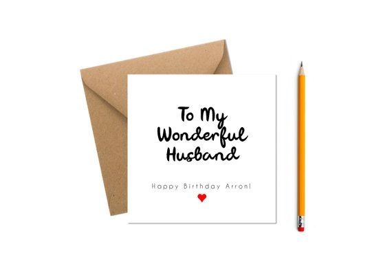 Personalised Husband Birthday Card Happy Customised Greeting Custom Greetings
