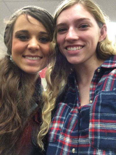 "duggars: "" Jinger with a fan. Source: Duggar family news life is not all pickles and hairspray. Fb """