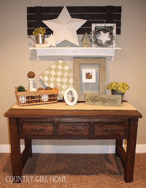 I want to make the shutter, white shelf, and entry table.