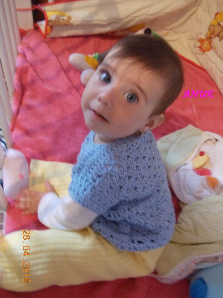 Crochet little girl veste
