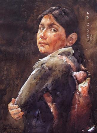 Acuarela de Luis Palao Berastian, (Pintor Peruano)