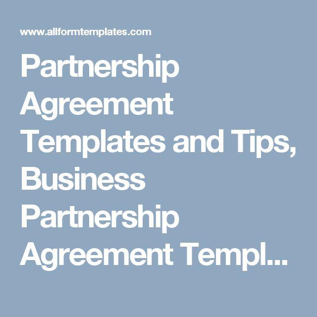 Partnership Agreement partnership Agreement Templates - partnership agreements