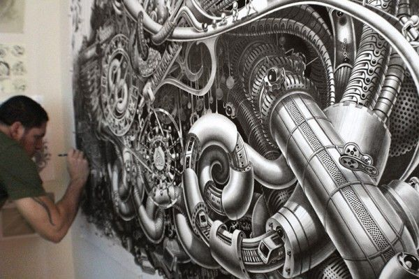 Incredible Surreal Mural Drawings 11