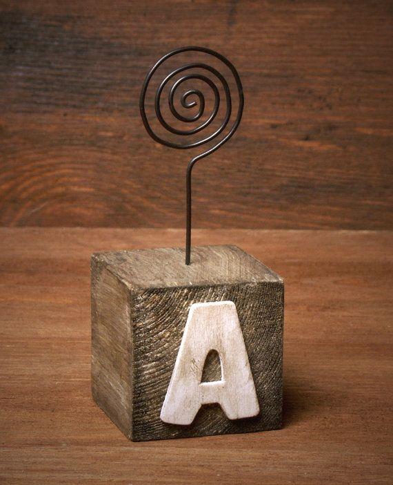 Handmade Shabby Chic Wooden Alphabet Blocks by ForMomentsinTime