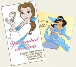 Cast Member appreciation cards. To print at home and gift to cast members that have made your vacation extra special.